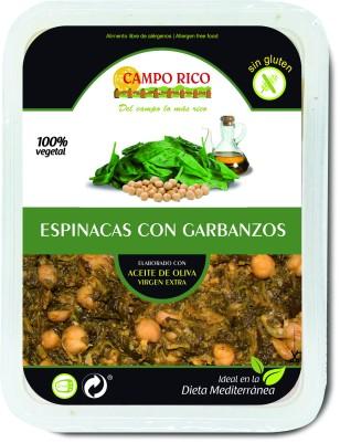 espinacas con garbanzos 250 G, 360 G, 1 KG